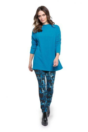 Doris Streich Plus Size Blue Textured Shirt 276-101-61