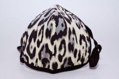 Berek Black Silver Leopard Foil Mask L92893C