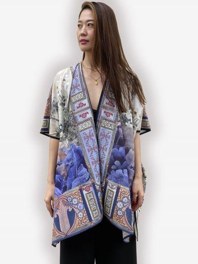 Citron Plus Size Art of Japan Kimono 0798AOJ-C