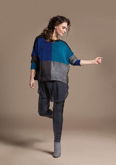 Doris Streich Plus Size Blues Pullover Sweater 235-105-61