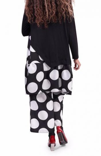 Alembika Black/White Dot Tunic AT205B