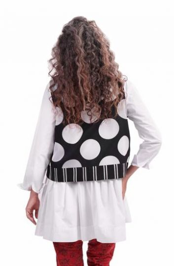 Alembika Black/White Dot Vest AJ505B