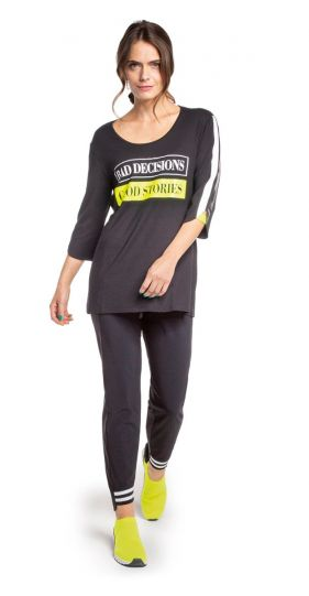 Doris Streich Black Lime Bad Decisions Tunic 242-120-20