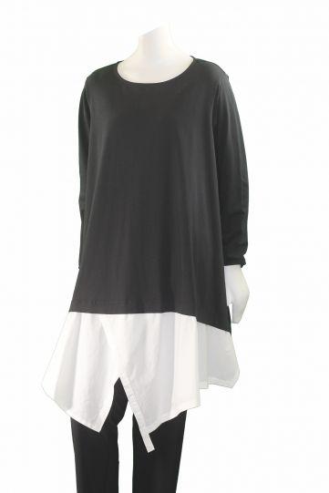 Moyuru Black/White Pullover Tunic 173600