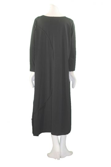 Moyuru Black Ribbon Trim Long Dress 183304