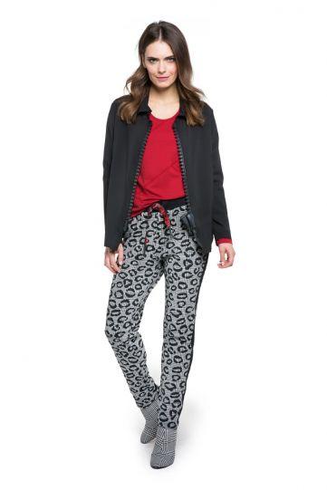 Doris Streich Plus Size Black Big Zipper Jacket 347-10999
