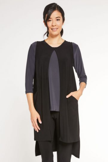 Sympli Black Aura Vest 21165