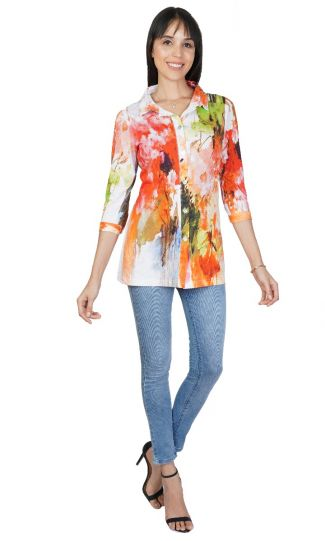 Parsley & Sage Plus Size Chantal Long Shirt 21T64G1P