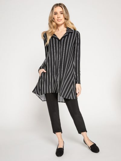 Sympli Plus Size Go To Shirt Varied Stripe 2437CBG-2