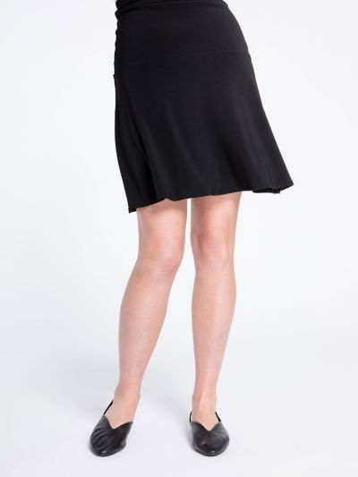 Sympli Romance Black Mini Skirt for Ladys 2675
