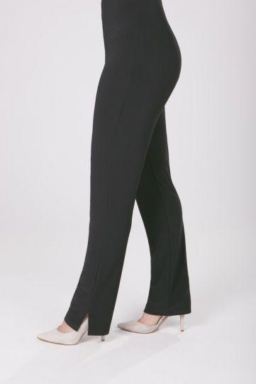Sympli Plus Size Black Narrow Long Pant 2748L