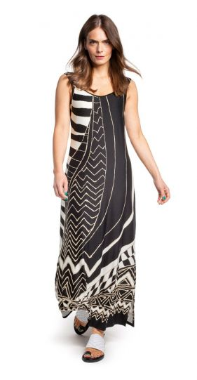 Doris Streich Black Printed Dress 693-608-82
