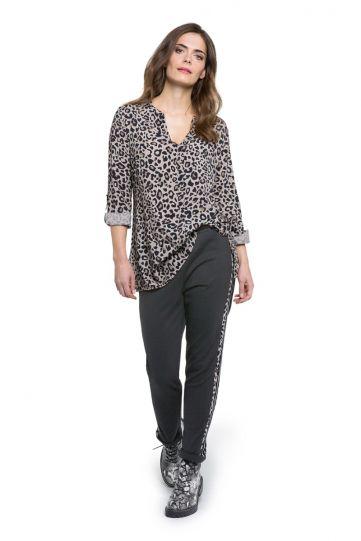 Doris Streich Plus Size Leopard V-Neckline Blouse 233-144-84