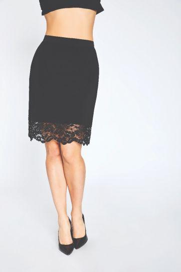 Sympli Black Lace Reversible Mini Skirt 3610