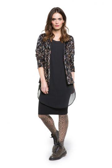 Doris Streich Plus Size Black/Brown Velvet Jacket 386-427-84