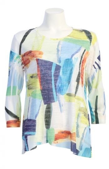 Jess & Jane Plus Size Multi Palette Tunic 49-1599X