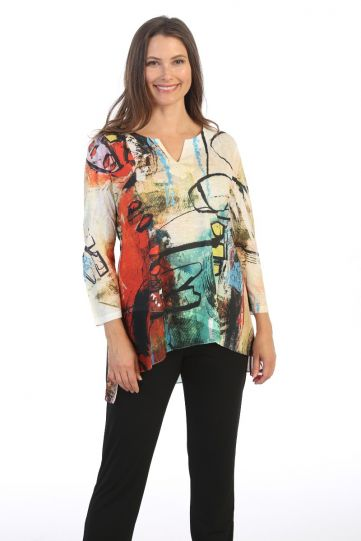 Jess & Jane Plus Size Multi Kelly Tunic 61-1527X