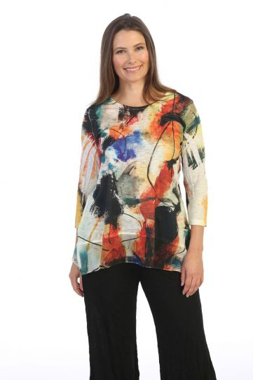 Jess & Jane Plus Size Multi Genesis Tunic 63-1519X