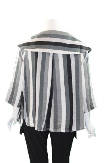Ralston Black/Grey/White Striped Liliana Jacket 76655