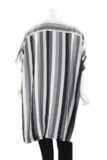 Ralston Grey/White/Black Striped Asat Duster 76654