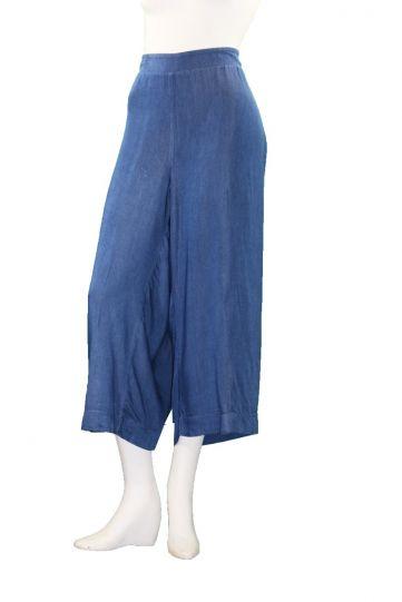 Mat Fashion Plus Size Denim Zip Trouser 711.2044