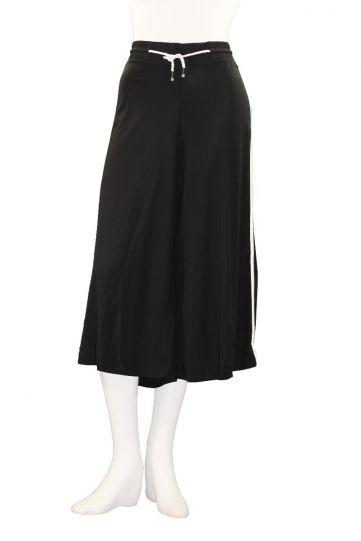 Mat Fashion Plus Size Black/White Wide Crop Pant 711.2032