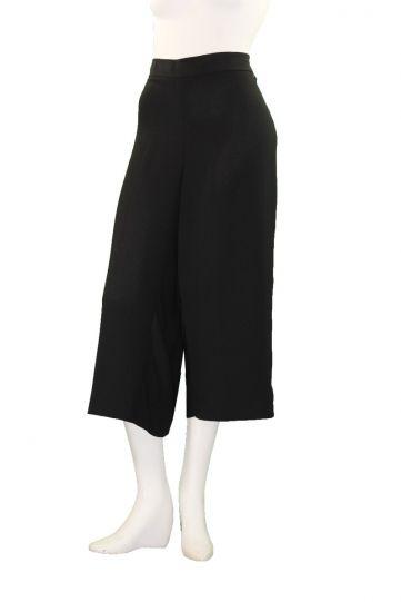 Mat Fashion Plus Size Black Wide Leg Crop Pant 711.2041