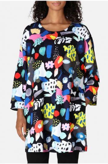 Aino Plus Size Fanny Pullover Pocket Tunic Emma