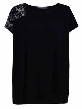 Alembika Black Mixed Media Top ST246B
