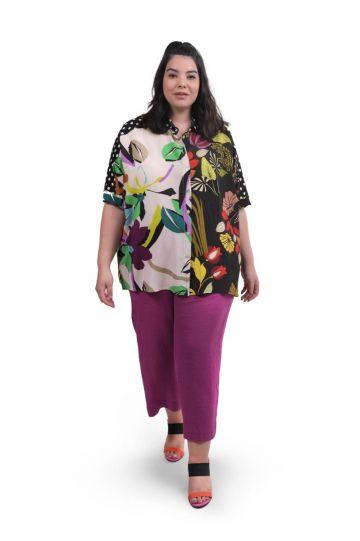 Alembika Floral Print Button Down Shirt ST308M