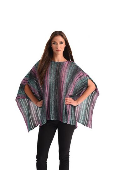 Angel Plus Size Multi Poncho Sweater 3404