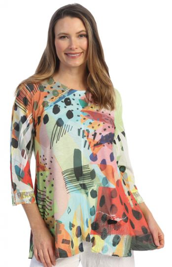 Jess & Jane Plus Size Multi Pop Art Tunic BU2-1512X