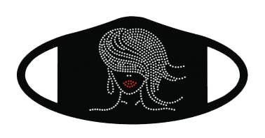 The Buffalo Works Girly Jeweled Face Mask in Black