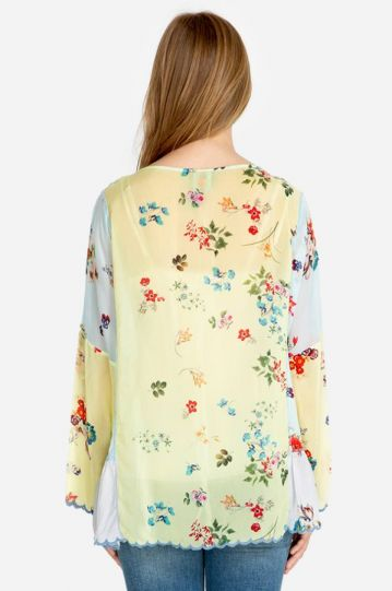 Johnny Was Printed Vervaine Blouse C10819-5