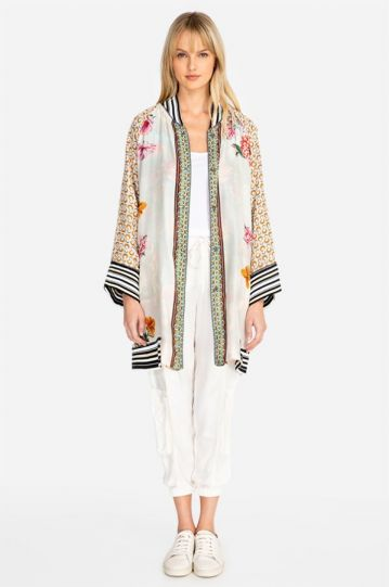 Johnny Was Multi Reversible Tropical Jacket C45819-D
