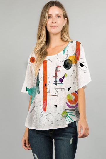 Et' Lois Plus Size Art Class Apple Top C2007W-D13