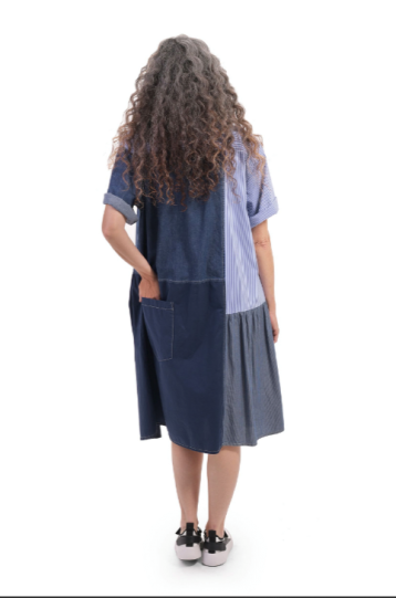 Alembika Denim Mixed Media Dress SD212D