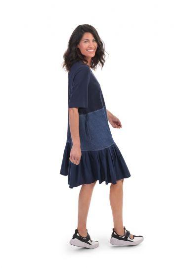 Alembika Denim Tiered Dress SD214D