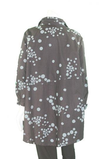 Adverb Plus Size Black/Denim Cotton Polka Dot Shirt Enough