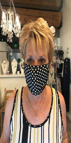 Bling Bizzi Black/White Polka Dot Mask