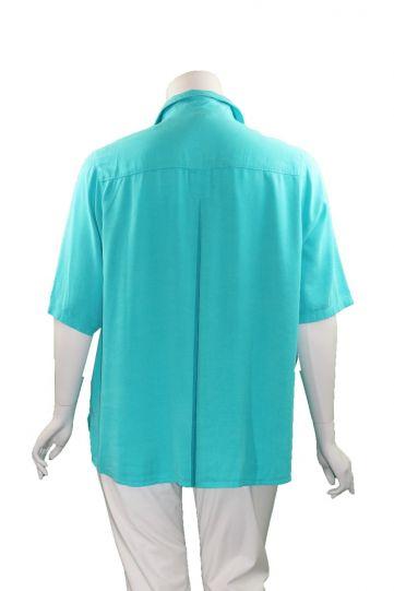 Tianello Plus Size Solid Camp Shirt T786P-19
