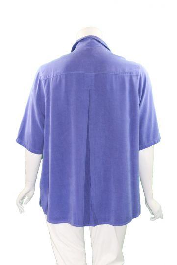 Tianello Plus Size SAP Solid Camp Shirt T786P-19