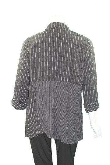 Moonlight Black/Grey Button Front Shirt 2448