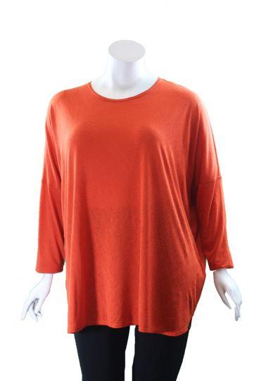 Q'Neel Plus Size Orange Over Sized Tunic 83088-8370