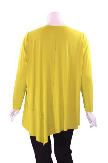 Q'Neel Plus Size Lime Green V-Neckline Long Tunic 83157-2428