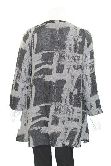 Ralston Plus Size Black/Grey Elis Jacket 78056