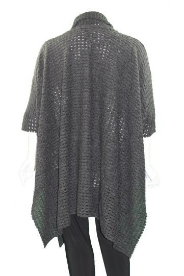 Igor Grey Holey Over Sized Open Front Sweater W19-64