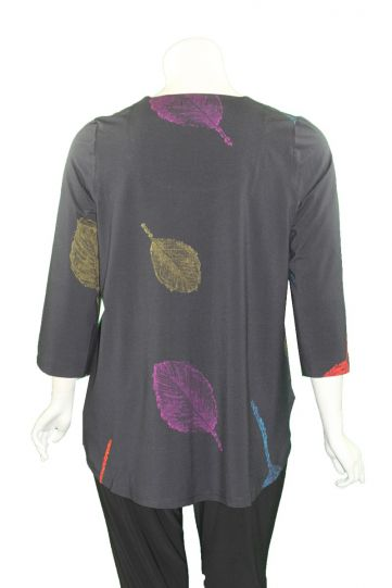 Ralston Navy/Leaf Printed Pullover Zefas Tunic 71522