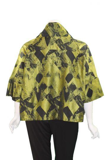 Comfy/Sum Kim Plus Size Black/Green Ava Short Jacket ME520
