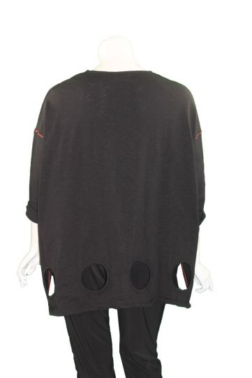 Cheyenne Plus Size Black Stitch Holy Tunic CT1027